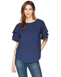35f41ae2c139a Ella Moon Everleigh Short Flutter Sleeve Lace Up Top - Lyst