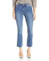 PAIGE - Colette Crop Flare Jeans W/raw Hem - Lyst