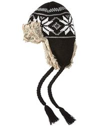La Fiorentina - Knit Trapper Hat With Faux Fur And Tassels - Lyst