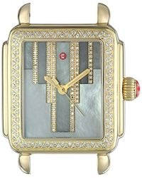 Michele - 'deco' Swiss Quartz Stainless Steel Casual Watch Head, Color:gold-toned (model: Mw06t01b0096) - Lyst