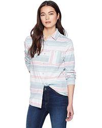 Pendleton - Petite Reversible Serape Stripe Cotton Shirt - Lyst