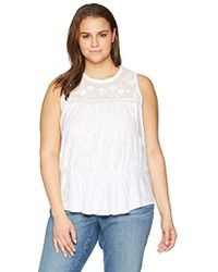 Lucky Brand - Size Plus Tiered Jacquard Tank Top - Lyst