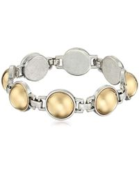 """Kenneth Cole - """"metal Spheres Two Tone Ball Link Bracelet - Lyst"""