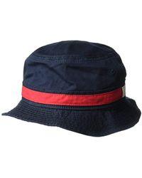 eccda313fea Lyst - Tommy Hilfiger Dad Hat Flag Bucket Cap in Blue for Men