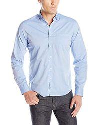 DL1961 - Bowery & Bleeker Modern Slim Talilored Fit Button Down Shirt, Blue - Lyst