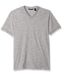 Perry Ellis - Texture Slub V-neck Tee Shirt - Lyst