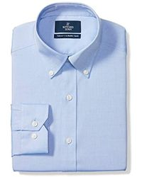 Buttoned Down - Tailored Fit Button-collar Solid Pinpoint Non-iron Dress Shirt - Lyst