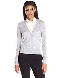 Theory - Cardigan Merino Wool Sweater - Lyst