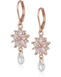 a7291642b Swarovski Silver-Tone Night Crystal Leverback Earrings in Metallic ...
