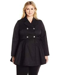 4aded719e51 Lark   Ro - Plus Size Fit And Flare Trench Coat - Lyst