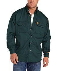 cf2df8e7 Wrangler RIGGS Workwear Denim Work Shirt in Blue for Men - Lyst
