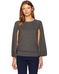 Trina Turk - Fern Dell Cape Cotton Sweater - Lyst