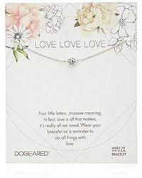 Dogeared - Love Pave Sparkle Ball Bracelet - Lyst