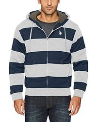 U.S. POLO ASSN. - Standard Fashion Sherpa Lined Fleece Hoodie - Lyst
