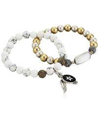Lucky Brand - S Dragonfly Stretch Bracelet - Lyst