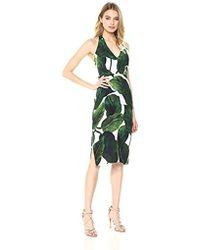 MILLY - Large Banana Leaf Print On Cady Vanessa Dress - Lyst