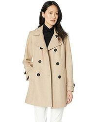Anne Klein - Classic Double-breasted Coat - Lyst