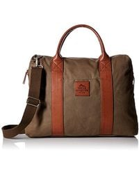 Buxton - Expedition Ii Huntington Canvas Laptop Briefcase - Lyst