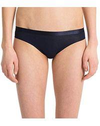 8a609a4a0786c Lyst - Calvin Klein Ck Black Structure Bikini Panties in Blue