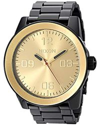 Nixon - Corporal Ss A346. 100m Water Resistant Xl 's Watch (48mm Watch Face. 24mm Stainless Steel Band) - Lyst
