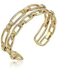 Michael Kors - S Iconic Link Pave Open Double Cuff Bracelet - Lyst