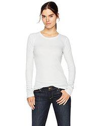 Three Dots - Mini Thermal Tight Long Shirt - Lyst