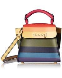 Zac Zac Posen - Eartha Iconic Mini Top Handle Rainbow Stripe - Lyst