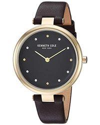 Kenneth Cole - Kc50513003 Analog Display Quartz Brown Watch - Lyst