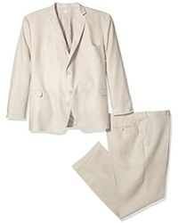 U.S. POLO ASSN. - Big And Tall Linen Suit, Tan, 58 Long - Lyst