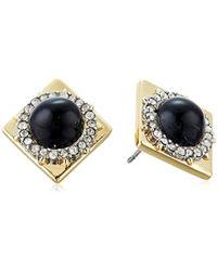 Alexis Bittar - Crystal Encrusted Geometric Stud Earrings - Lyst