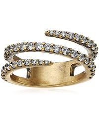 Nicole Miller - Artelier Pave Coil Ring, Size 7 - Lyst