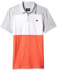 e0b4ab978ea747 Lacoste - Sport Short Sleeve Semi Fancy Ultra Dry Color Blocked Polo - Lyst