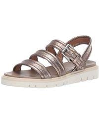 a1b5b4937450 Frye - Mila Strappy Sandal Flat - Lyst