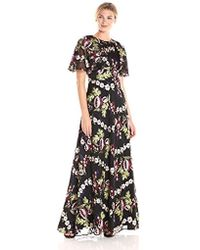 ML Monique Lhuillier - Embroidered Floral Gown - Lyst
