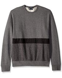 French Connection - Tweed Applique Striped Sweatshirt - Lyst