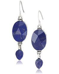 The Sak - Double Bead Drop Earrings - Lyst