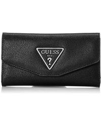 6915c61473 Guess - Maddy Slim Clutch Wallet - Lyst