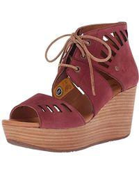 Caterpillar - Alma Ghillie Tie Platform Wedge Sandal - Lyst