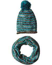 56e4d4314e2 Steve Madden - Two-piece Blurred Lined Knit Muffler Scarf And Beanie Hat Set  -