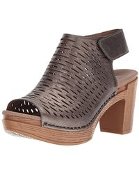 eb39e13b543 Lyst - Clarks Annadel Danae Wedge Sandal - Wide Width Available in Brown
