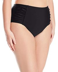 96612ade7c Jessica Simpson - Plus-size Solid Shirred High Waisted Bottom - Lyst