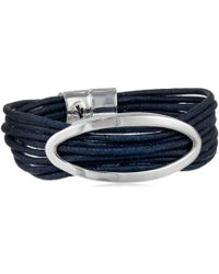 """Kenneth Cole - """"oceans Blue Oval And Cord Multi-row Bracelet, 7.5"""" - Lyst"""
