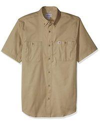 8f8446d68d0 Carhartt - Big   Tall Rugged Professional Short Sleeve Work Shirt - Lyst