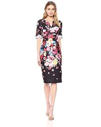 Adrianna Papell - Spring In Bloom Printed Scuba Sheath Dress - Lyst