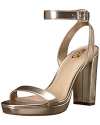 8126cf53aa1 Lyst - Ted Baker Pink Metallic Block Heel Sandals in Pink