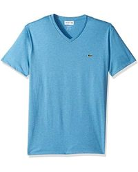 Lacoste - Short Sleeve V Neck Pima Jersey T-shirt, Th6710 - Lyst