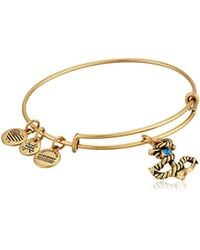 Alex And Ani Anchor Iii En Bangle Bracelet Lyst