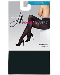 Hanes - Powershapers Firm Control High Waist Opaque Tights - Lyst