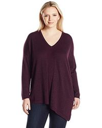 NYDJ - Plus Size Shimmer Asymmetric Sweater - Lyst
