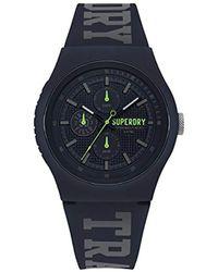 Superdry - ' Urban' Quartz Plastic And Silicone Casual Watch, Color:blue (model: Syg188uu) - Lyst